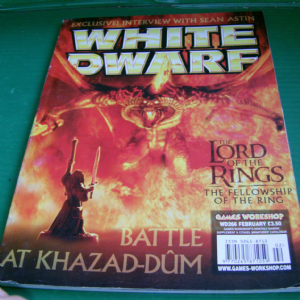 WHITE DWARF  WD266 February games workshop The lord of the rings